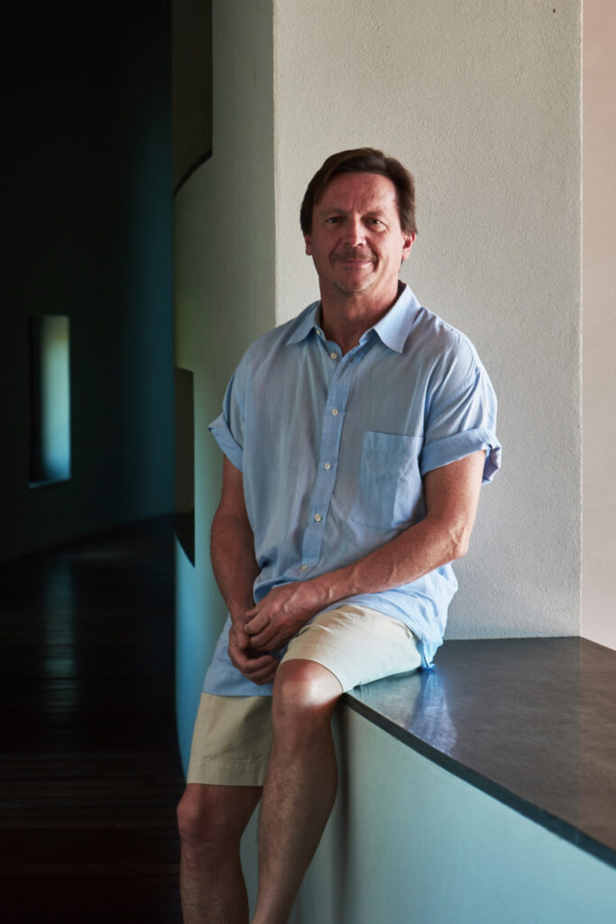 Michael Koch at his house in Costa Rica. Photograph by Michael Mundy.